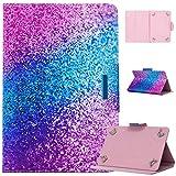 MYTHOLLOGY Universal Hülle für 7 Zoll Tablette, PU Leder Hülle mit Kartenfächern und Standfunktion Schutzhülle für Huawei Med