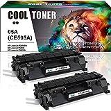 Cool Toner Kompatibel Toner für HP CE505A 05A für HP Laserjet P2030, HP Laserjet P2035 P2035N, HP Laserjet P2050 Laserdrucker HP Laserjet P2055 P2055D P2055DN P2055X, Schwarz 2.300 Seiten, 2 Pack