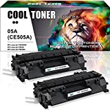 Cool Toner 2.300 Seiten Kompatibel für HP CE505A 05A CE505X 05X Toner für HP Laserjet P2055D Toner, HP Laserjet P2035 Toner, HP Laserjet P2055D P2055DN P2055 P2030 P2050 P2055X, 2 Pack Schwarz
