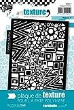 Carabelle Studio Polyzen 2 Placa Textura, Caucho, Blanco, 9.0x13.5x0.5 cm