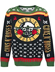 Guns N' Roses Holiday Sweater 2016 Jersey caballero negro/amarillo