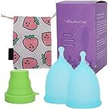 EKARIAN Copa menstrual | Juego de 2 copas menstruales (S y L ...