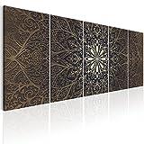 murando - Bilder Mandala 200x80 cm - Leinwandbilder - Fertig Aufgespannt - 5 Teilig - Wandbilder XXL - Kunstdrucke - Wandbild - Abstrakt Kunst f-A-0491-b-n