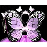 Skky bell kids , purple colour Butterfly Wings Costume for Baby Girl Angel for Birthday Party(COLOR SKY BLUE)