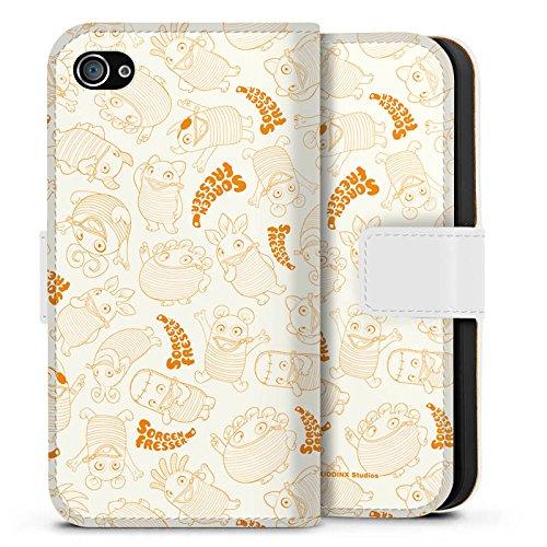 Apple iPhone X Silikon Hülle Case Schutzhülle Sorgenfresser Figur Fanartikel Merchandise Sideflip Tasche weiß