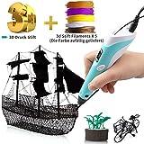 3D Stift 3D Druck Stift für Kinder DIY Scribble Zeichnung Drucker Stift mit 5 PLA Filamente Minen,LCD Anzeige&Intelligente Temperaturregelung für Kinder, Erwachsene&Künstler