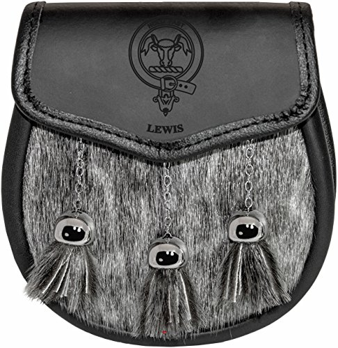 lewis-semi-dress-sporran-fur-plain-leather-flap-scottish-clan-crest