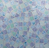 Klebefolie - Möbelfolie Mosaik blau Dekorfolie 67.5 cm x 200 cm Selbstklebende Folie Mosaikfliesen - Bastelfolie Selbstklebefolie Designfolie