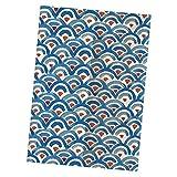 Sharplace Tenda della Porta in Lino di Cotone Stile Giapponese Tappezzeria Divisorio Home Decor - Blu-85x150cm
