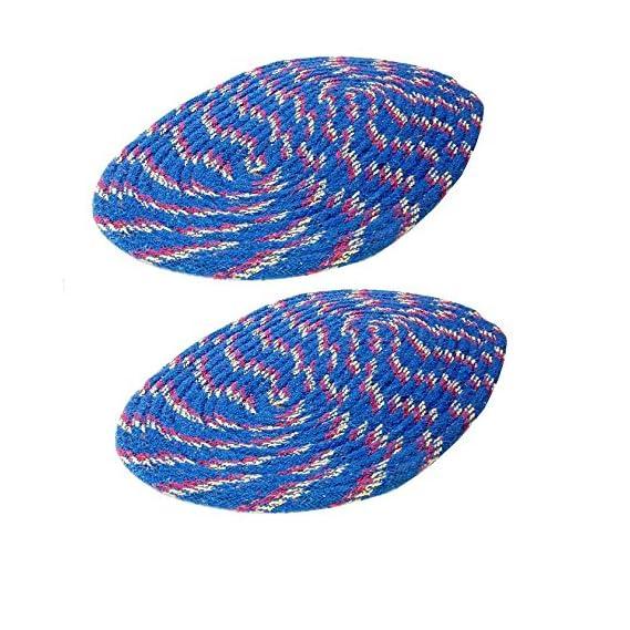 Online Quality Store Beautiful Colour Cotton doormats Set of 2(Blue,16 * 24 inch)