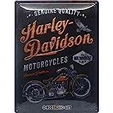 Nostalgic-Art Targa Vintage Harley-Davidson – Tradition – Idea regalo per amanti di moto, in metallo, Design retro per decora