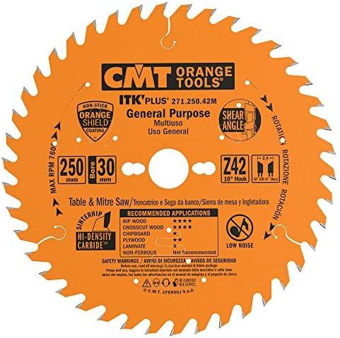 CMT CMT CMT 271.250.42M Lama Circolare Itk-Plus per Taglio Lungo e Traverso Vena, Arancio | In Breve Fornitura  | Bella Ed Affascinante Della  | Ampie Varietà  2f4082