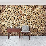 Foto Wand Wandbild Homey Firewood, Dimension: 270cm x 288cm