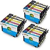 Gohepi 29XL Compatibile per Cartucce Epson 29XL 29 Epson XP-342 XP-332 XP-345 XP-442 XP-445 XP-432 XP-247 XP-335 XP-235 XP-245 XP-435 XP-330 XP-430-6 Nero/3 Ciano/3 Magenta/3 Giallo Confezione da 15