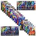 Jeux De Cartes 100 Pcs Pokemon Cartes Style TCG Holo EX Full Art 59 Cartes EX 20 Cartes Mega EX 20 Cartes GX 1 Énergie Carte Puzzle Jeu De Cartes Amusant (B)