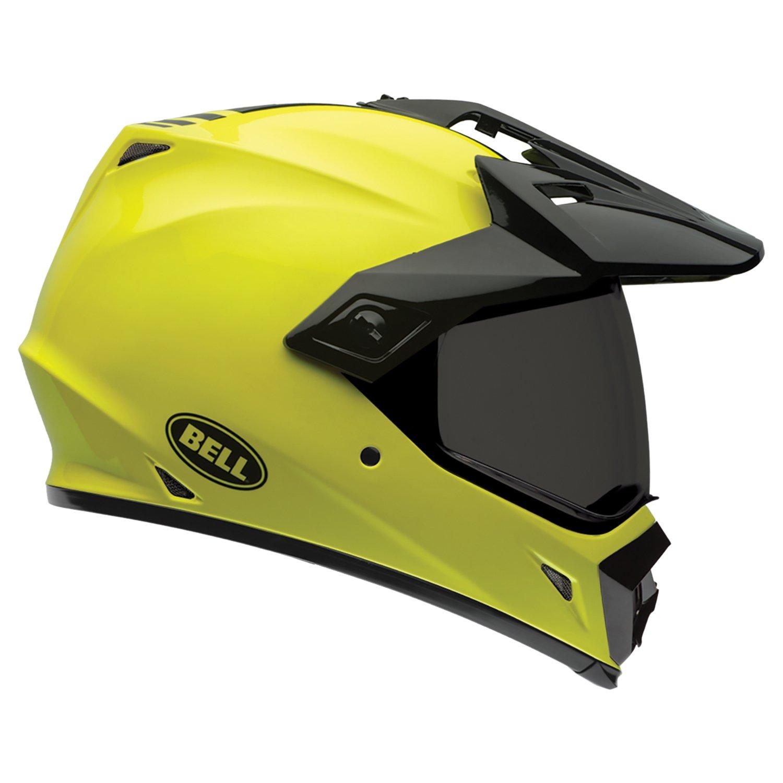 Bell Caschi MX 2015 MX-9 SolidHigh Visiblity Adventure Adult Casco, Giallo/Nero, XS