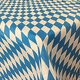 Tischdecke Bayrische Raute und Karo Muster - Moderne Bierbank und Fest Zelt Garnituren für jede Art von Veranstaltungen, verschiedene Größen & Farben wählbar;, Größe:90 x 90 cm, Farbe:bayrische Raute