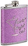 Premier Housewares Girls Night Out Flachmann-Set, Glitzer, ca. 220ml, Pink
