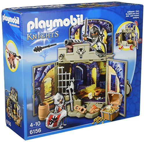 Playmobil 6156 - Scrigno dei Cavalieri del Lupo, 2 Pezzi