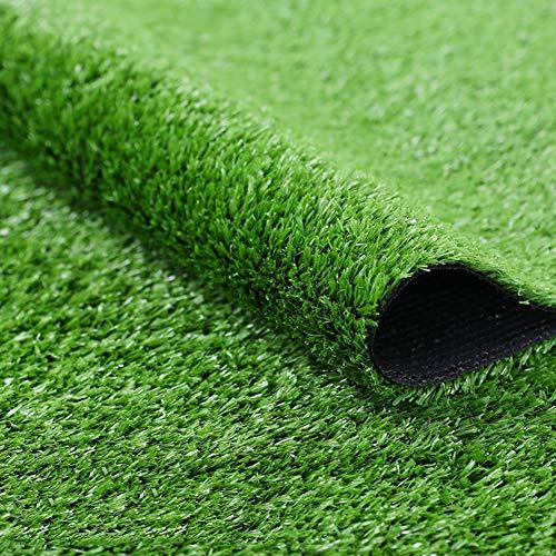 YEYE Kunstrasen,4 Ton Synthetische Gras Patch Matte Mit Entwässerungsbohrungen Lush & Hard Pet Turf Astroturf Teppich Für Indoor Outdoor-grün 200x400cm(79x157inch) (Matte Pet Gras)