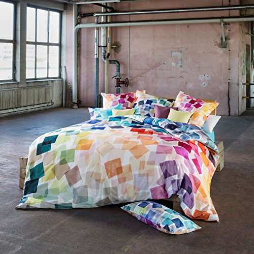 ESTELLA Mako-Satin Bettwäsche Puzzle Multicolor 1 Bettbezug 135x200 cm + 1 Kissenbezug 80x80 cm
