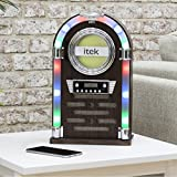 iTek Bluetooth Table Top Jukebox with CD Player and FM Radio