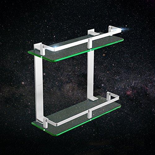 XIAOLIN-- Space-Aluminium-Zwei-Schicht-Glas-Regal Badezimmer Hardware-Anhänger Duschraum Kosmetik-Rack Badezimmer-Racks ( größe : 30cm )