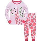 TEDD Conjunto de pijamas para niñas de 100% Algodón de Manga larga