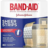 Band-Aid Brand Adhesive Bandages, Sheer Strips, Assorted, 80 Count (Pack of 2) by Band-Aid preisvergleich bei billige-tabletten.eu