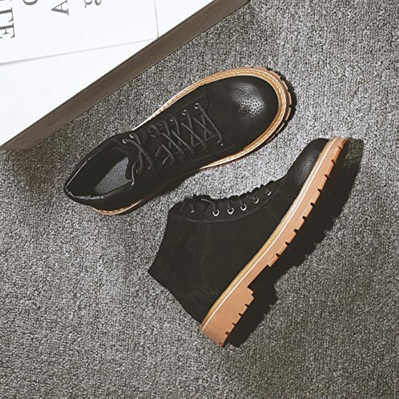 HL-PYL-Martin hombres zapatos botas botas altas, zapatos botas Frosted en coreano,41,negro  -