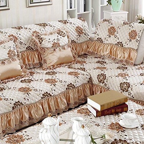 DD FWER Im europäischen Stil, rutschfeste Fabric Sofa Polster/Kissen/Einfaches modernes Sofa Decken/Kissen - ein Handtuch 70 x 210 cm (28 x 83 Zoll)