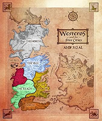 Game Of Thrones Map Of Westeros # 2 Jumbo Fridge/Locker Magnet