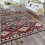 Paco Home In- & Outdoor Teppich Modern Zickzack Muster Terrassen Teppich Wetterfest Bunt, Grösse:120x170 cm