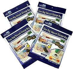 Easy Bag Vacuum Storage Bags - Set of 4 : 2 Jumbo (120 x92cm) & 2 Small (45 x 65cm)