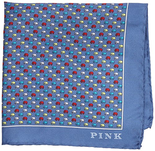 thomas-pink-elephant-print-pocket-square-panuelo-para-hombre-multicoloured-blue-multi-talla-unica