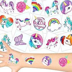 German Trendseller - 36 x Tatuajes temporales Unicornio ┃Fiesta Unicornio┃los Colores del Arco Iris┃ Fiestas Infantiles┃ Idea de Regalo┃piñata┃cumpleaños de niños┃ 36 Unidades...