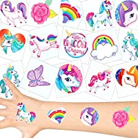 German Trendseller Einhorn Tattoos Set ┃ Neu ┃ Einhorn Party ┃ Kindergeburtstag ┃ Mitgebsel ┃72 Tattoos