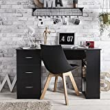 Bureau avec 3 tiroirs - Laura James. Ce meuble est idéal pour un bureau ou une chambre. Poignées en plastique - 3 tiroirs non verrouillables - 3étagères fixes - Poids maximal sur le bureau: 10kg - Taille du bureau: 120x 49x 72cm - Poids: 24,5...