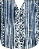 LA LEELA femmes batik longue robe de plage caftan Bleu_X585 FR TAILLE : De 42 (L) À - 50 (2XL)