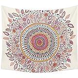 Dremisland Wandbehang Tapisserie Hippie Boho Zigeuner Polyester Tischdecke Bettdecke Strandtuch Bunte Sonnenblume wandteppic (M/153x130cm(60x52inch))