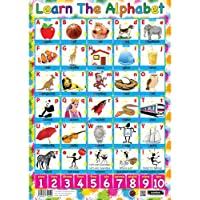 Sumbox - Póster educativo para aprender el abecedario (texto en inglés)