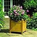 Gardman Holz-Blumentopf, quadratisch, 43 cm, Tonfarben von Gardman Limited auf Du und dein Garten
