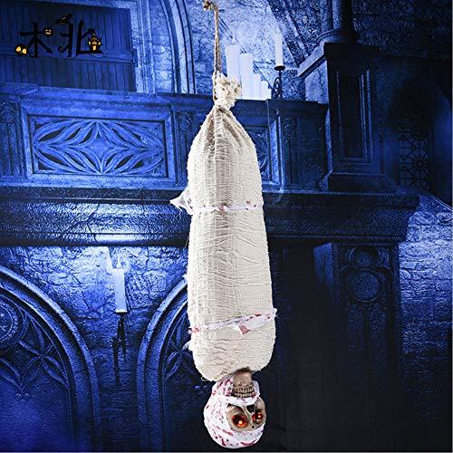 YXYXN Halloween Horror Requisiten, Halloween Hanging Ghost Elektrische Ghost Home Tür Bar Club Gruselig Scary Halloween Dekorationen Horror Requisiten,B