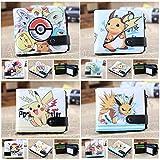 LQT Ltd Pokémon Boule Cartes Wallet Pikachu Porte-Monnaie pour Homme Naruto Tokyo Ghou Enfants Cion Porte-Monnaie Fermeture Éclair Moraillon Dollor Prix