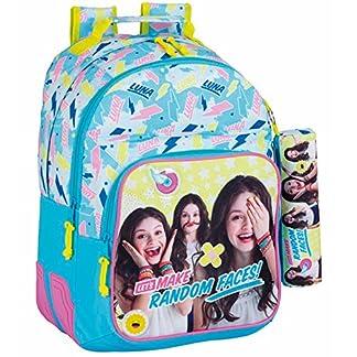 Safta Mochila Escolar Soy Luna «Faces» Oficial 320x150x420mm