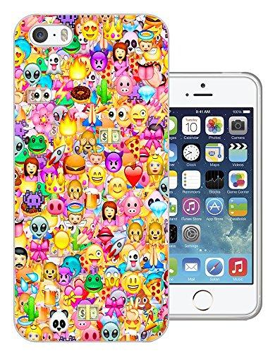 925 - Collage Multi Smiley Faces Emoji Design iphone 5C Fashion Trend Protecteur Coque Gel Rubber Silicone protection Case Coque