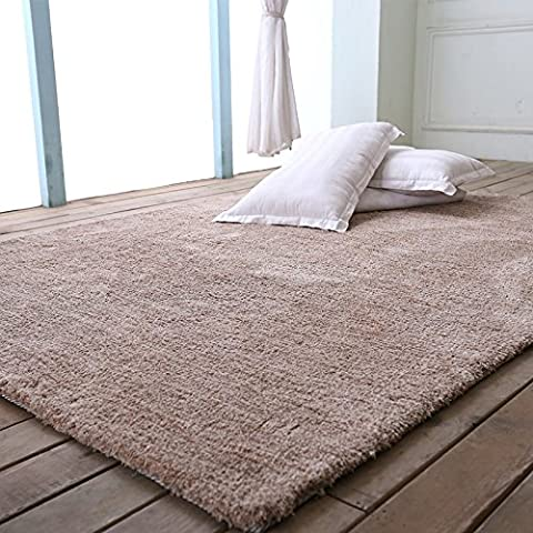 tappeto stuoia a tinta unita soggiorno camera da letto bagno elegante , camel , 350mm round
