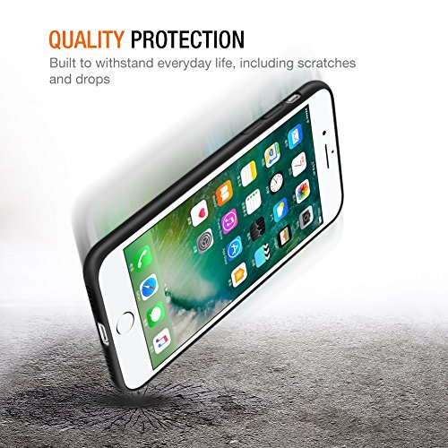 iPhone 8 Plus Hülle, iPhone 7 Plus Hülle, Eouine Ultra Slim Soft TPU Shockproof Silikon Schutzhülle Case Cover für Apple iPhone 8 Plus (2017) / iPhone 7 Plus (2016) 5.5-inch Smartphone (Transparent) Schwarz