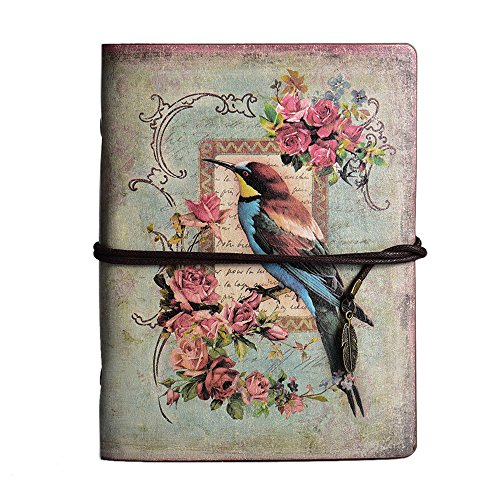 Maleden Tagebuch mit Paris-Motiv, Reisenotizbuch, mit Ledereinband, Vintage-Stil, klassisch,...
