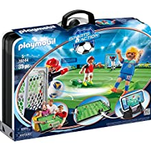 PLAYMOBIL Sports & Action 70244 Take Along Soccer Arena, Includes Smartphone Holder, for Children Aged 5+